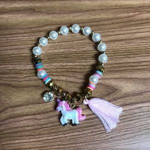 Jewelry - New gold unicorn tassel pearl charm bracelet